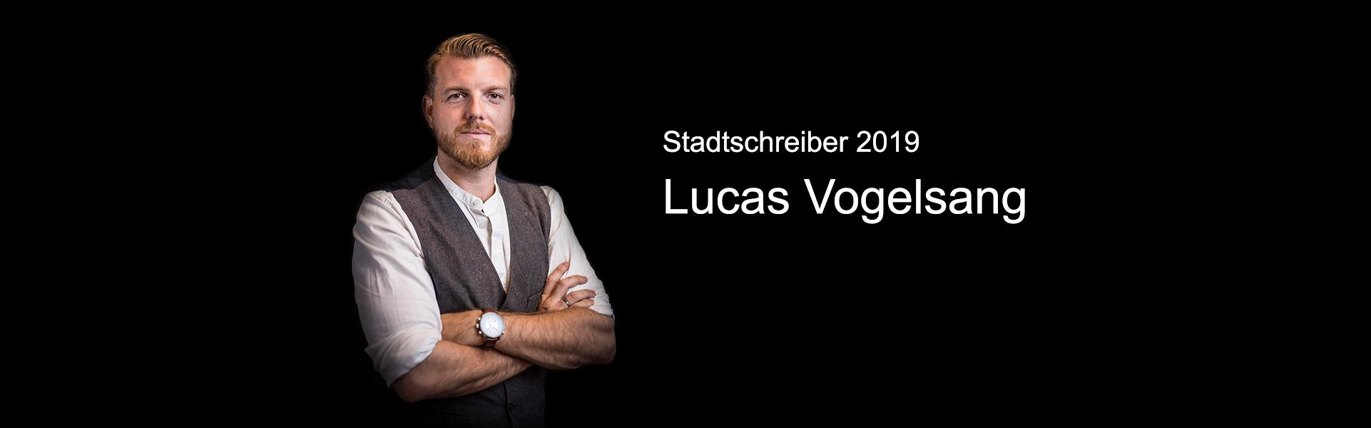 Lucas Vogelsang ist der Stadtschreiber Ruhr 2019